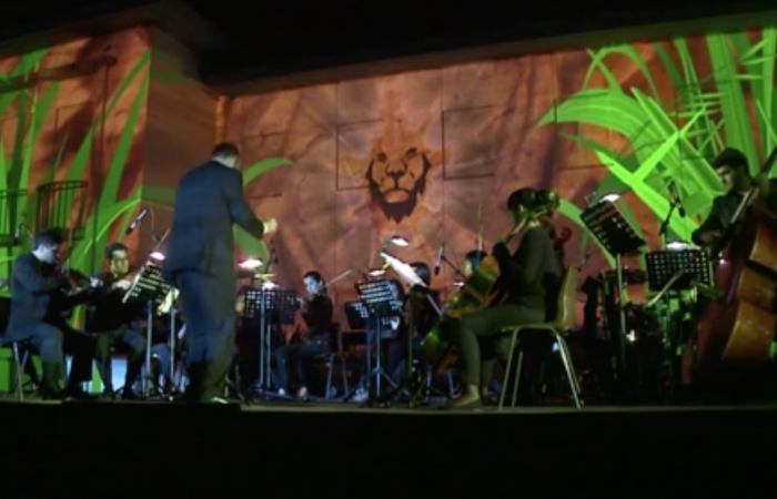 projeções fachada camara municipal orquestra
