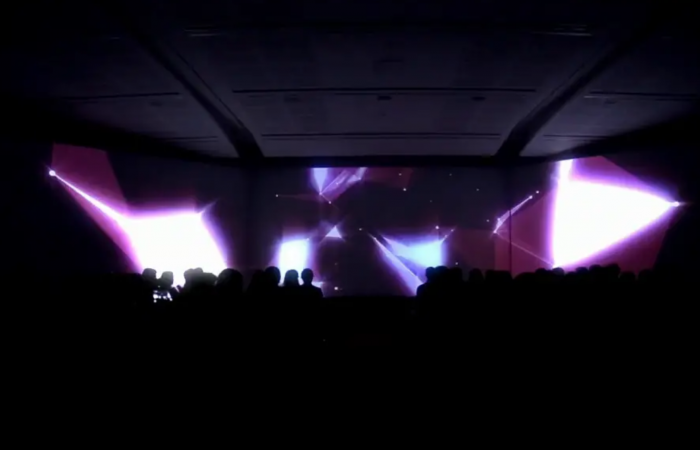 VIDEO MAPPING ULTRA WIDE PROJECTION PROJECAO EVENTO