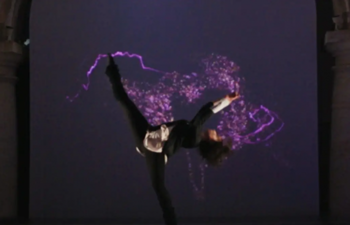 VIDEO DANCE MAPPING DANCA PROJECOES JANTAR